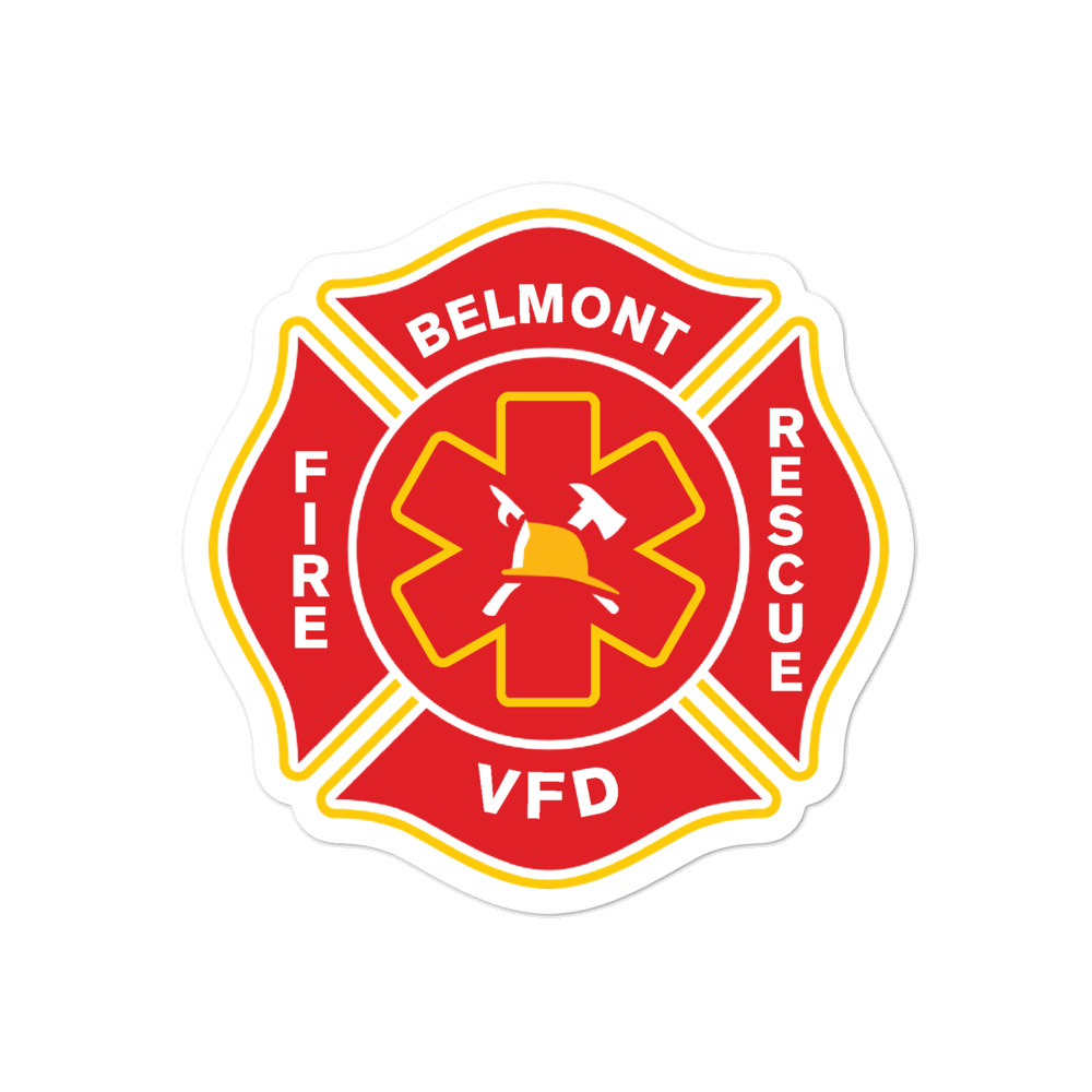 Belmont VFD Sticker