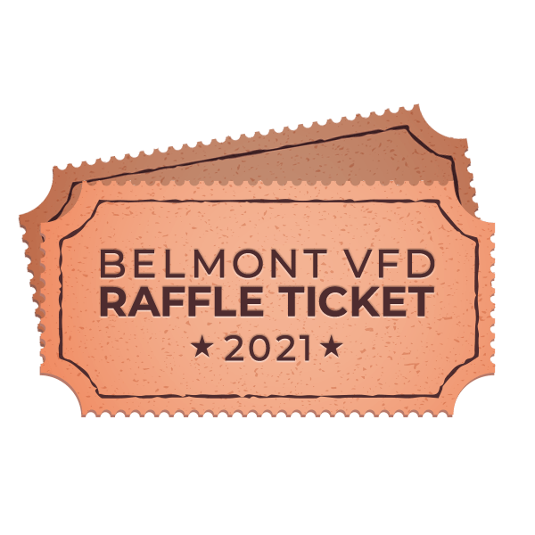 Belmont VFD 2021 Raffle Ticket
