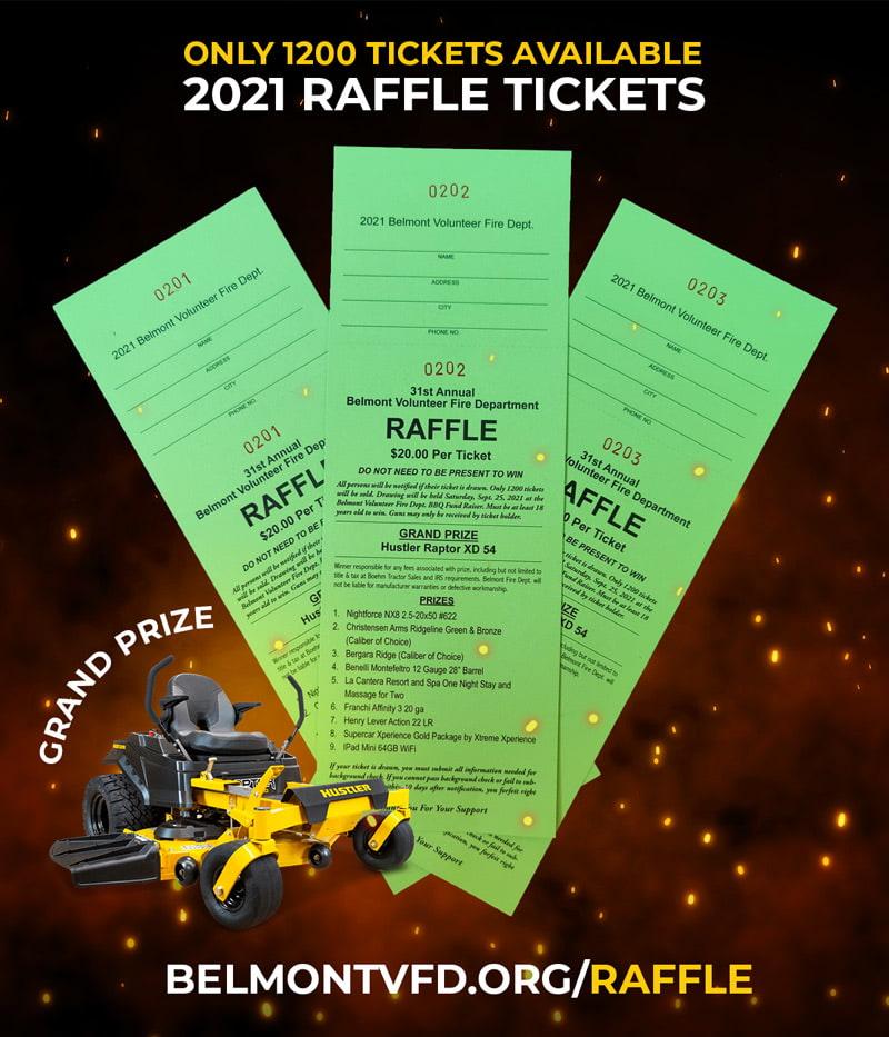 2021 BelmontVFD Raffle Tickets